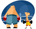 Two boxers on the ring vector illustration of a Stock Images