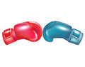 Two boxing gloves facing Royalty Free Stock Image