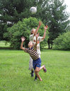 Two boys play with boll Royalty Free Stock Photos