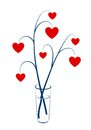 Two branches with hearts Royalty Free Stock Image