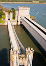 Two Bridges Across the River Conwy, Wales Royalty Free Stock Photography