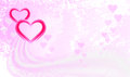 Two bright pink hearts on a light background Royalty Free Stock Images