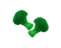 Two broccoli model from japanese clay Royalty Free Stock Photo