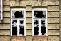 Two broken windows Royalty Free Stock Photo