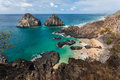 Two brothers fernando de noronha island the rocks and pigs beach at archipelag pernambuco brazil Royalty Free Stock Image