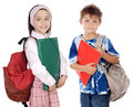 Two brothers students Royalty Free Stock Images