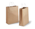 Two brown paper bags Stock Photo
