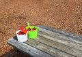 Two Bucket Ripe Strawberries Royalty Free Stock Photo
