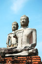 Two Buddha statue Royalty Free Stock Photo