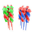 Two bunches of firework rocket isolated Royalty Free Stock Photos