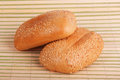 Two buns with sesame seeds Royalty Free Stock Photo