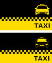 Two business card with taxi modern car silhouette Stock Photo