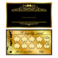 Two business cards with gold orchids