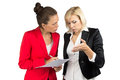 Two business lady making a decision Royalty Free Stock Photo