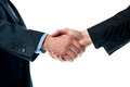 Two business men shaking hands Royalty Free Stock Photo