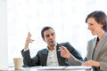 Two business partners having a meeting Royalty Free Stock Photo