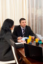 Two business people at meeting Royalty Free Stock Photo