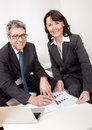 Two business people at the meeting Royalty Free Stock Photo