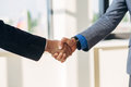 Two businessman shake hands Royalty Free Stock Photo