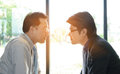 Two businessman Staring at each other Royalty Free Stock Photo