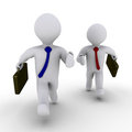 Two businessmen compete Royalty Free Stock Photo