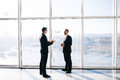 Two businessmen dicussing business perspectives Royalty Free Stock Photo