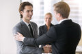 Two businessmen handshaking Royalty Free Stock Photo