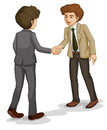 Two businessmen shaking hands illustration of the on a white background Royalty Free Stock Images