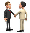 Two businessmen on a white background shake hands d Stock Image