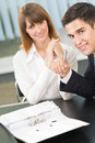 Two businesspeople working Stock Images