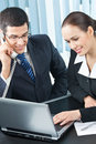 Two businesspeople working Royalty Free Stock Photos