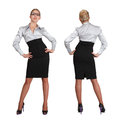 Two businesswoman - front and rear view Stock Images