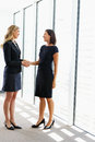 Two businesswomen shaking hands in office Royalty Free Stock Image