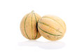 Two Cantaloupes (With Clipping Path) Stock Photo