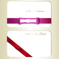 Two cards cute satin shiny bows Royalty Free Stock Photography