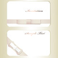 Two cards cute shiny satin bows Royalty Free Stock Photos