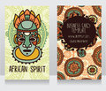 Two cards in ethnic african style Royalty Free Stock Photo