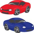 Two cartoon cars Royalty Free Stock Photography