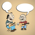 Two cartoon folk singers Royalty Free Stock Photography