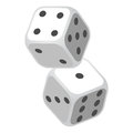 Two Casino Gambling Dices Vector Illustration Royalty Free Stock Photo