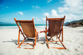 Two chairs on the beach Royalty Free Stock Photo