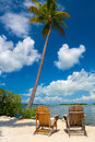 Two chairs in florida keys for relax Stock Images