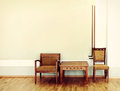 Two chairs and table Royalty Free Stock Photo