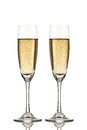 Two champagne glasses isolated on white Stock Image