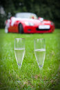 Two champaign glasses Stock Images