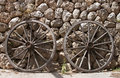 Two chariot wheels - RAW format Stock Photo