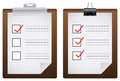 Two check list board icons vector create by Royalty Free Stock Photography