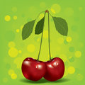 Two cherry Royalty Free Stock Photo