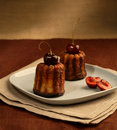 Two cherry cakes Royalty Free Stock Photography