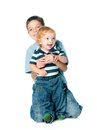 Two child brothers Stock Photography